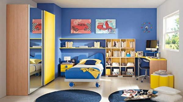 farbideen-für-kinderzimmer-blau-gelb