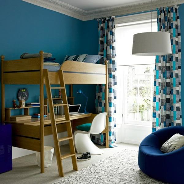 farbideen-für-kinderzimmer-in-blau-und-weißer-teppich