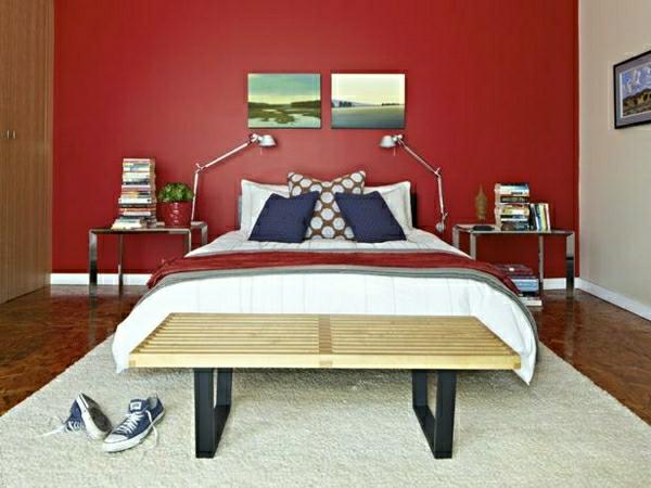 farbideen-für-schlafzimmer-gesättigte-farbe-rot