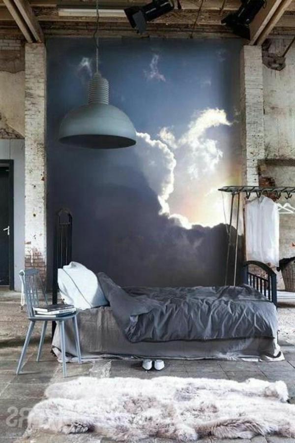 Farbideen für Schlafzimmer Selbstgemachte Dekoration Malerei