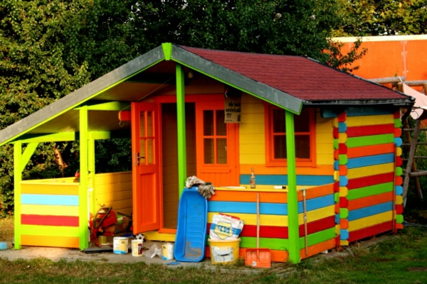 Farbige Gartenhäuser Aus Holz | Ontspannenjezelfzijn