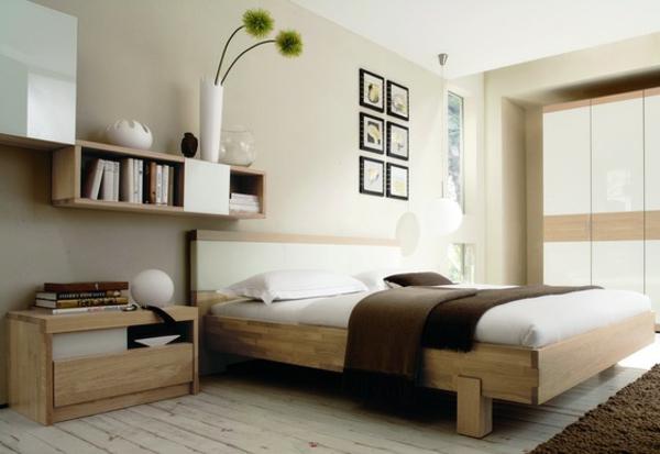 Bei schrägen Wänden, stellen Sie das Bett in dieser optimalen ...