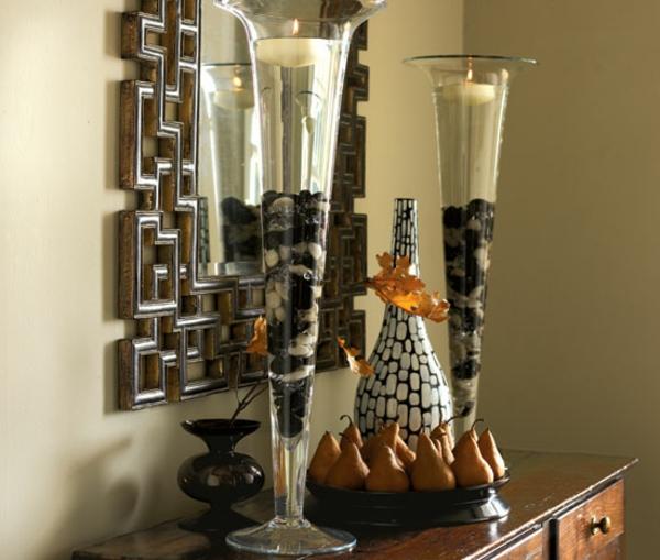 günstige-kerzen-für-ihr-zuhause- in hohen gläsern