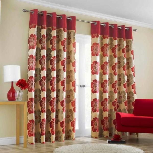 gardinen-dekorationsvorschläge-moderne-gestaltung-runder hell grauer teppich daneben