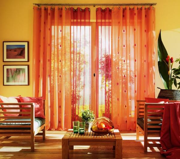 gardinenideen mit farbstimmung h ngen sie die farben auf. Black Bedroom Furniture Sets. Home Design Ideas