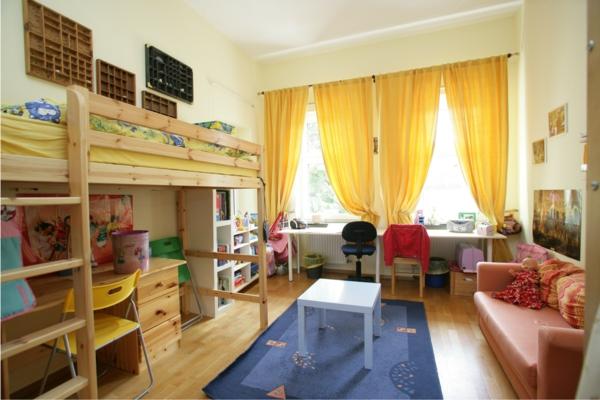 gardinenidee-gelbes Kinderzimmer