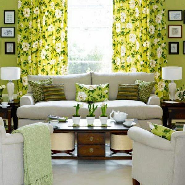 gardinenvorschläg-grün-wohnzimmer