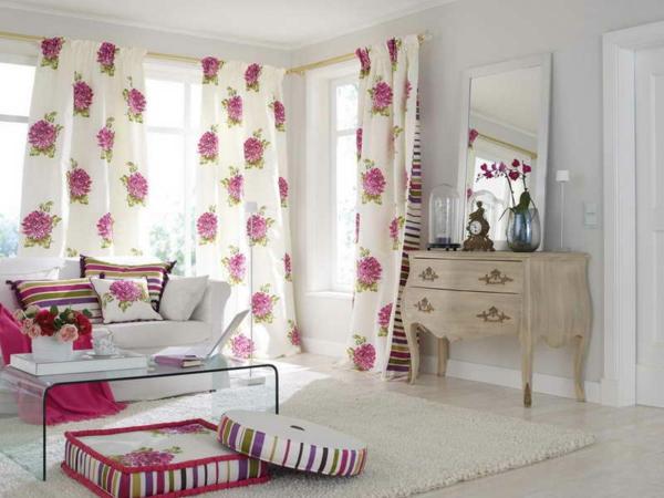 30 gardinenvorschl ge mit floral motiven
