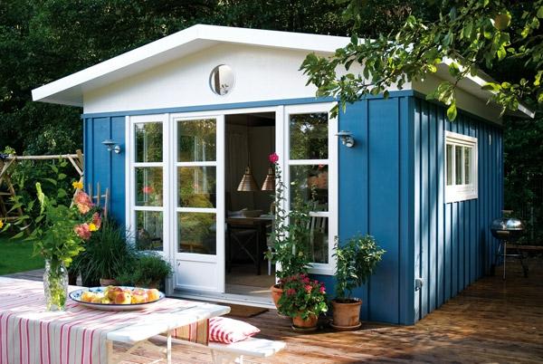 Gartenhaus taubenblau  Streichen Taubenblau ~ Innenraum und Möbel