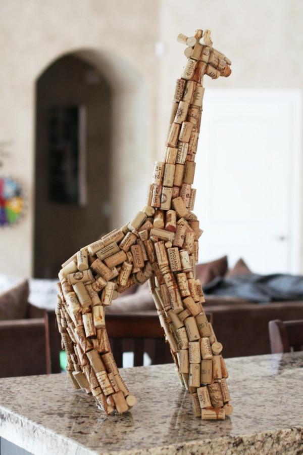 giraffe-aus-korken-basteln-tier