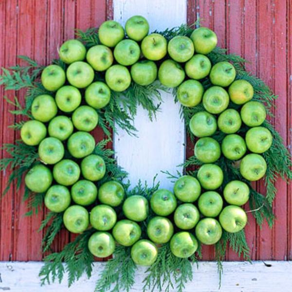 grüne-apfel-deko- einen kranz machen