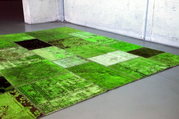 grüne-vintage-teppiche-interessantes-modell