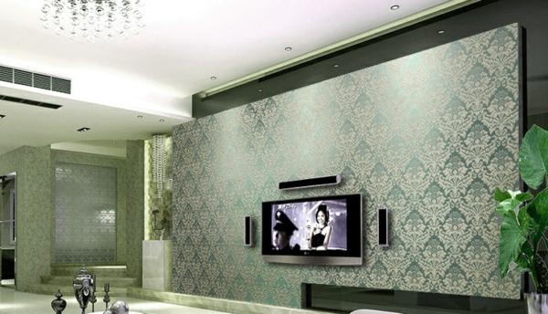 Wandfarbe metalleffekt die neuesten innenarchitekturideen - Wohnzimmerwand grun ...
