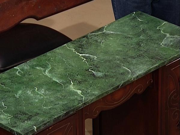 grüner-marmor-möbelstück - für die küche