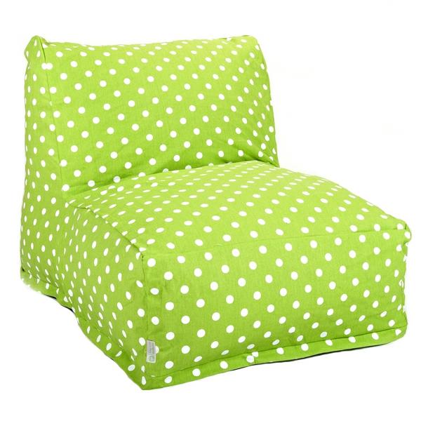 grüner-sitzsack-weiße-punte