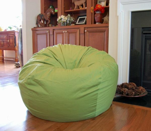 grüner sitzsack - mit frischer möbel das zuhause einrichten, Wohnzimmer