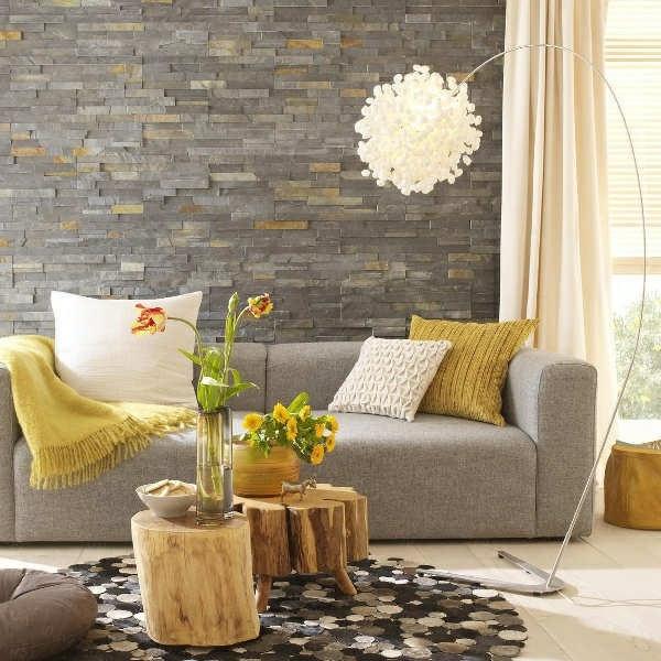 design : wohnzimmer mit steinwand grau ~ inspirierende bilder von ...