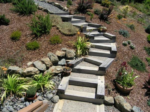 Gartentreppe selber bauen 40 super beispiele - Gartentreppe bauen ...