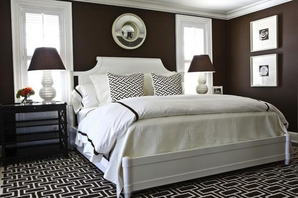 Schlafzimmer braune wand  Wärme und Herzlichkeit durch Wandfarbe