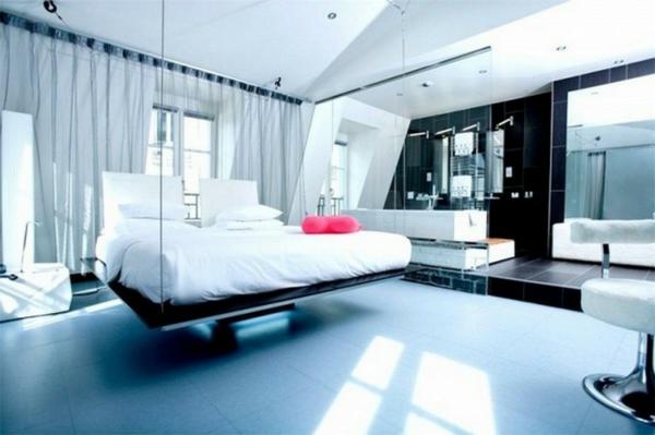 Ein hängendes Bett zu Hause - neue 20 Ideen! - Archzine.net