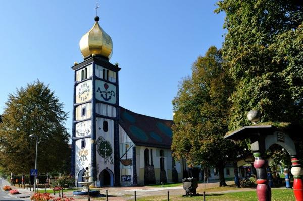 hundertwasser-kunst-St.-Barbara Church-Bärnbach