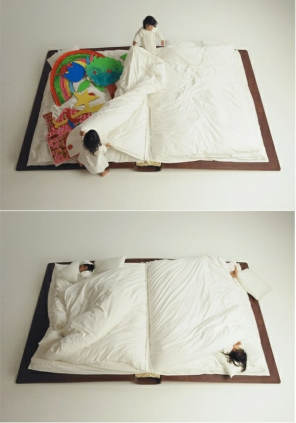 ideen-für-kinderzimmergestaltung-doppelbett-buch