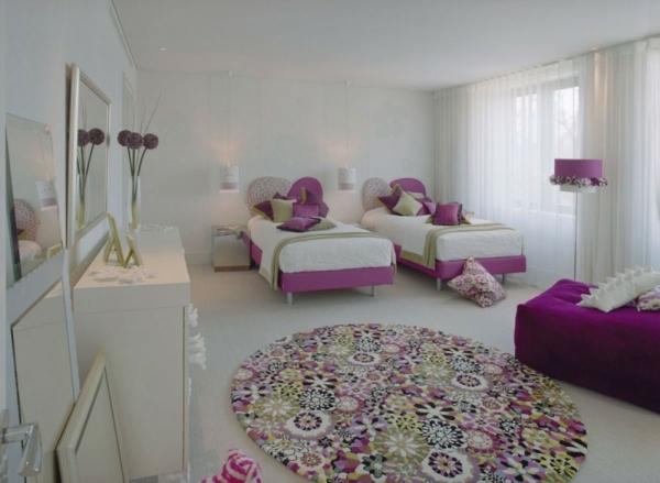 ideen-für-kinderzimmergestaltung-gerade-mädchenzimmer-rosa
