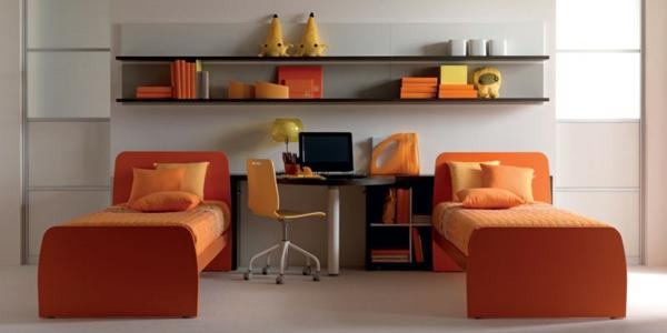 ideen-für-kinderzimmergestaltung-gerade-orange