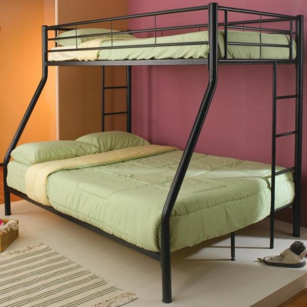 ideen-für-kinderzimmergestaltung-hochbett-doppelzimmer-grun
