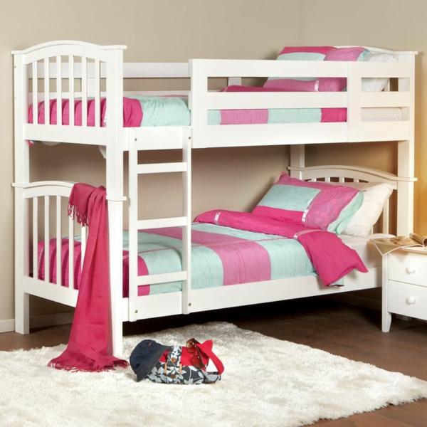 ideen-für-kinderzimmergestaltung-hochbett-rosa