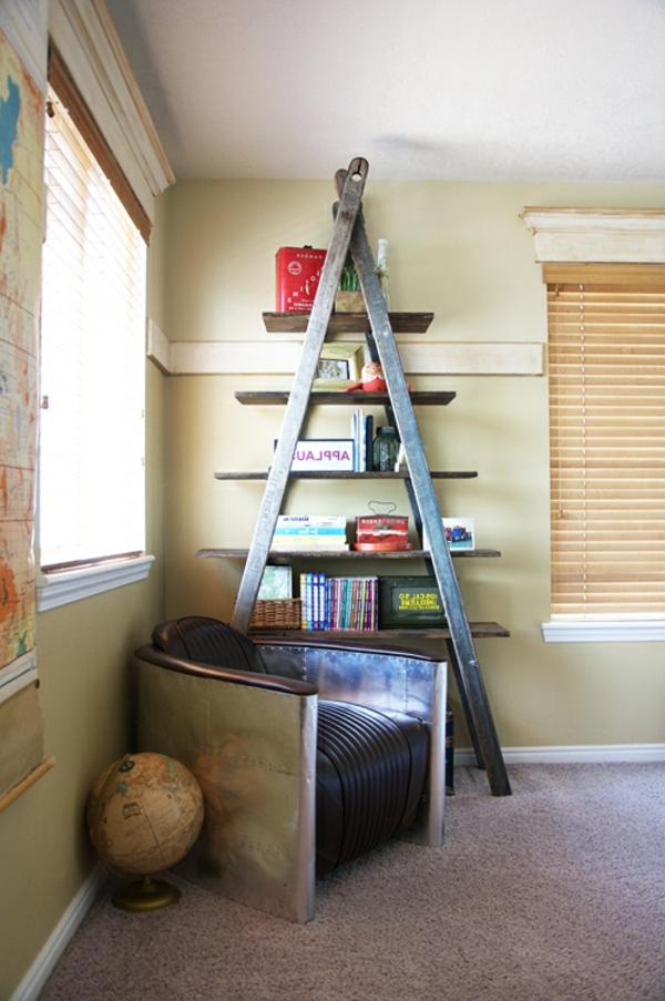 Bücherregal selber bauen - 55 Ideen! - Archzine.net
