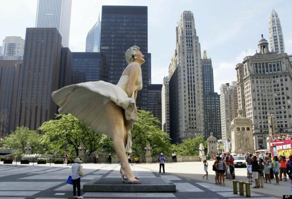 künstler-skulpturen-Marilyn-Statue