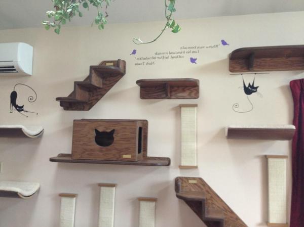 katzen wand selber bauen katzen kletterwand katzenkletterwand die kletterwand kratzbaum selber. Black Bedroom Furniture Sets. Home Design Ideas