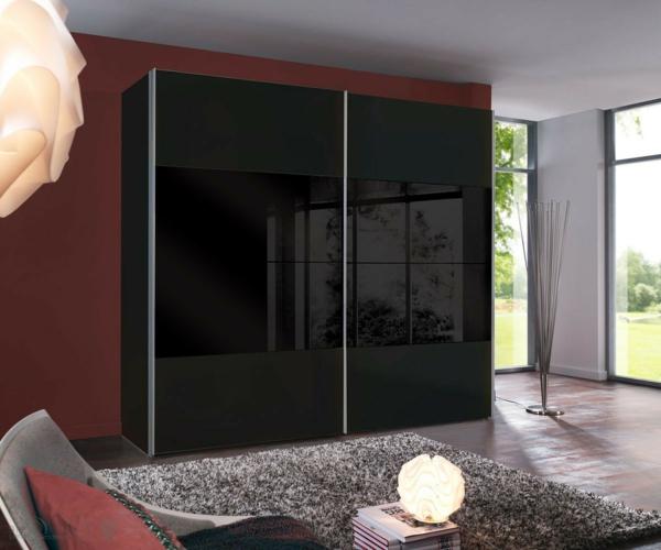 Kleiderschrank schiebetüren schwarz  Schlafzimmerschranksysteme für Ihre Wohnung! - Archzine.net