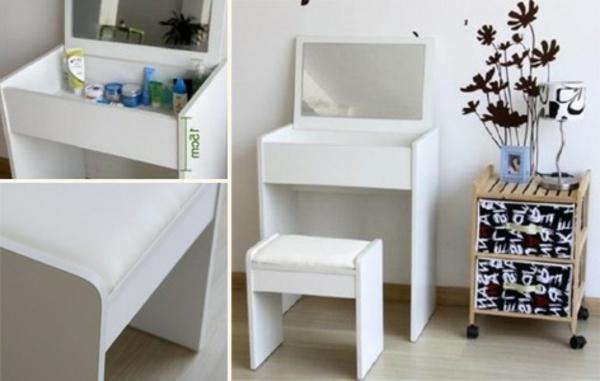 kompakter-Schminkktisch-in-weißer-farbe