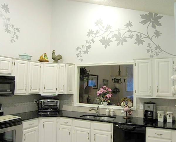 moderne-wandbemalung-für-die-Küchenwand