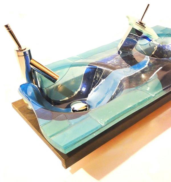 kreative-waschbecken-grüner-marmor