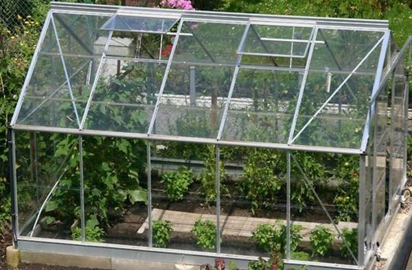 kreatives-beispielä-für-modernes-glashaus- pflegen für pflanzen