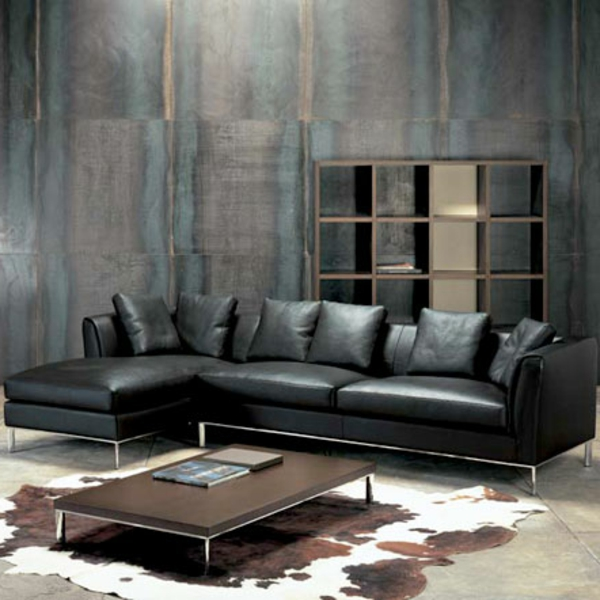 kuhfell teppich haus deko ideen. Black Bedroom Furniture Sets. Home Design Ideas