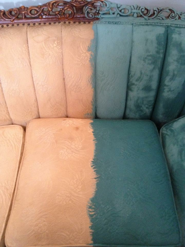 Annie Sloan Chalk Paint On Vinyl Upholstery