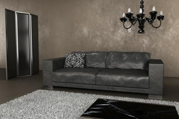 ledersofa grau interesting ledersofa ecksofa nahia grau. Black Bedroom Furniture Sets. Home Design Ideas