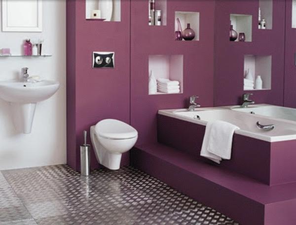 einrichten mit farben: lila farbtöne für magische erlebnisse, Badezimmer