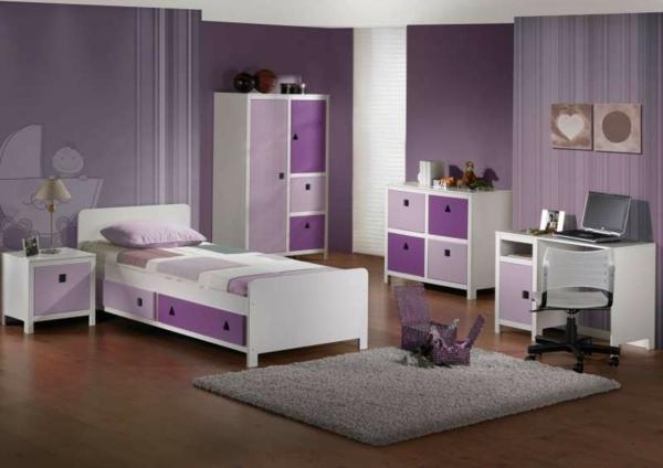 Einrichten mit farben lila farbt ne f r magische for Kinderzimmer in lila