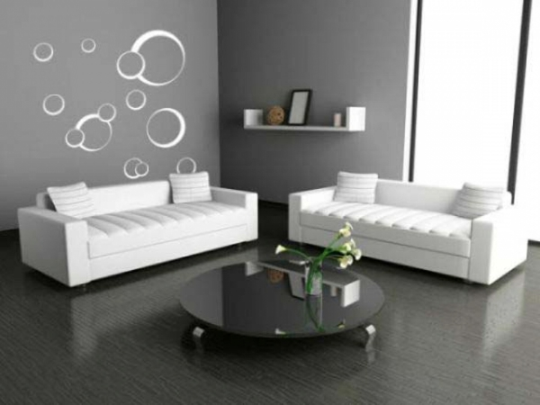 wohnzimmer ideen wandgestaltung grau. Black Bedroom Furniture Sets. Home Design Ideas