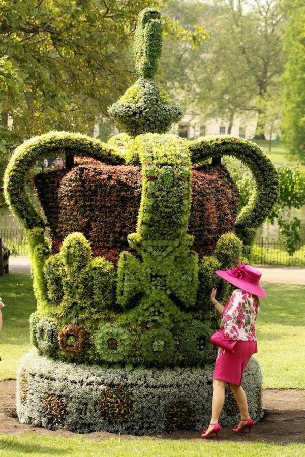 lustige-gartenfiguren-St. James's Park-london-krone