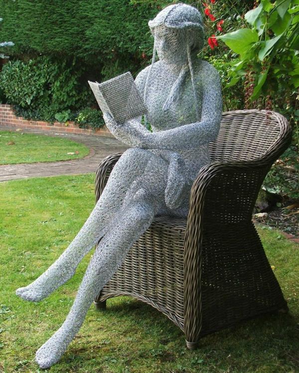 Moderne gartenskulpturen machen ihren garten innovativ - Gartenskulpturen metall ...