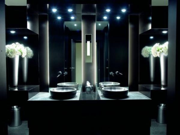 moderne-leuchten-für-spiegel-elegantes bad mit zwei waschbecken