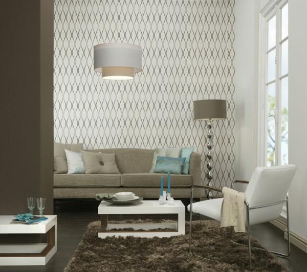 Muster Plan Tapeten Wohnzimmer Modern Grau Moderne – ragopige.info
