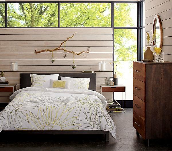 modernes-schlafzimmer-bettwäsche-mit-ornamenten- extravagante fenster