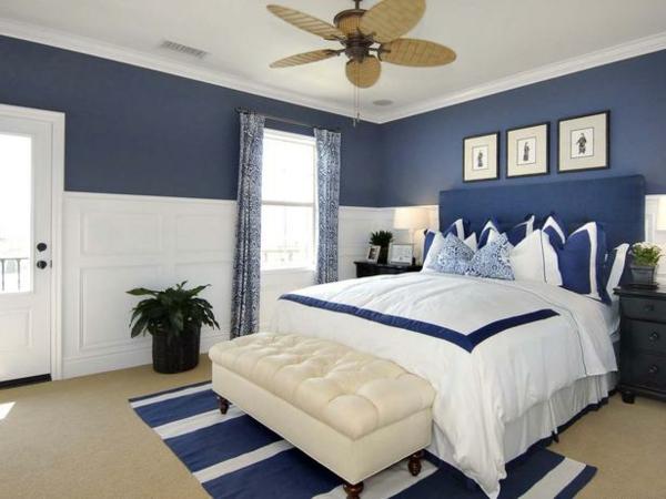 Schlafzimmer landhausstil blau  Schlafzimmer Landhausstil Blau: Kuchenruckwand ideen fugen sie ...
